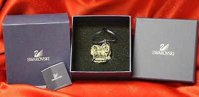 Swarovski Crystal #718989 Kris Bear on Drum Christmas Ornament! NIB!