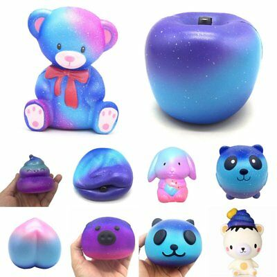 13cm Galaxy Apple Cream Scented Squishy Slow Rising Squeeze Strap Kids Toy Gift