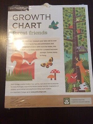 New in package Petit Collage forest friends growth chart