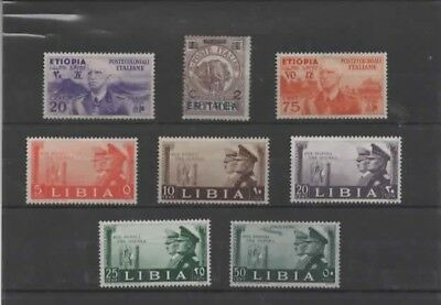 Colonie Italienne : Erythrée,Ethiopie,Libye Timbres neuf