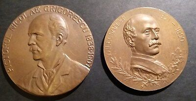 "ROMANIA "" NICOLAE GRIGORESCU ""The FAMOUS PAINTER 2 Medals 1906/1938 By STERNBERG"