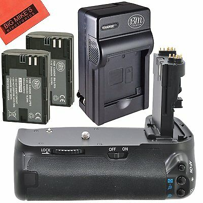 BG-E14 Replacement Battery Grip for Canon EOS 70D + 2 LP-E6N Batteries + Charger