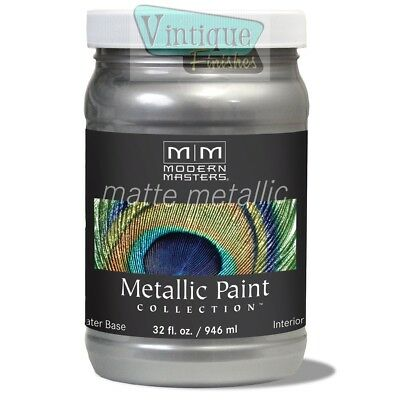 Modern Masters MATTE Metallic Paint - Quarts - Free Expedited Shipping!