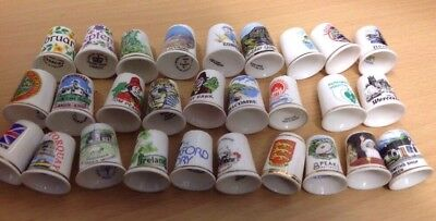 52 Collectable Souvenir Thimbles: Ceramic and Bone China: