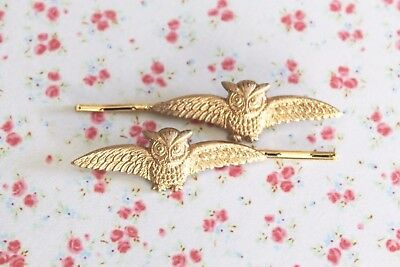 Owl bobby pins make beautiful hair accessories or Chi O pledge gift!