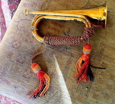 Vintage Brass Bugle , With Tassles, Functional
