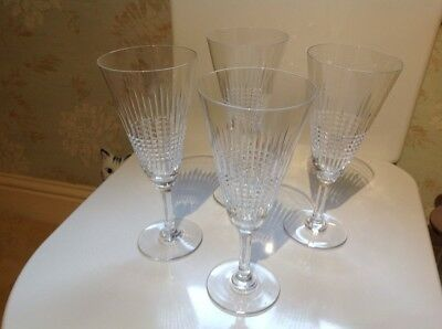 Baccarat crystal wine glasses x4 signed