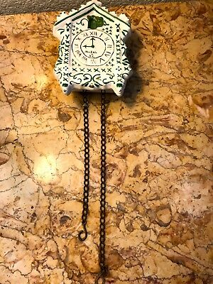 VINTAGE 1949 CERAMIC CUCKOO CLOCK Wall Pocket