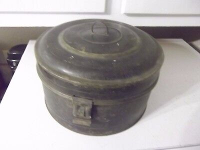 Vintage Antique Metal Spice Tin Master With Spice Canisters Estate Find