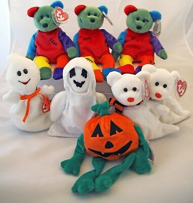 Assorted Ty Halloween Beanie Babies