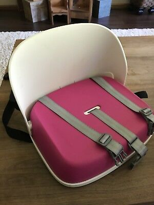 Oxo Tot Perch Portable Booster Seat With Straps - Pink / Pre-owned