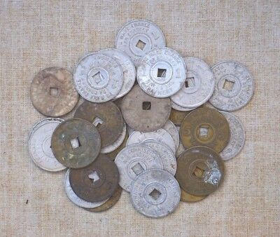 Vintage Mississippi Tax Tokens - 1 & 5 Cent - 30 Tokens