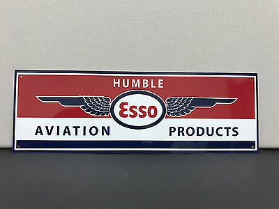 Rare humble ESSO aviation products garage wall advertising sign
