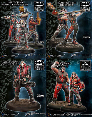 Knight Models Batman Game Harley Quinn Crew with Thugs and Gatling Brute