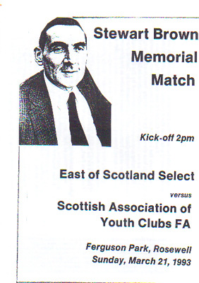 East Of Scotland Select V Scottish Youth Clubs Fa. 21/3/1993 Memorail Match