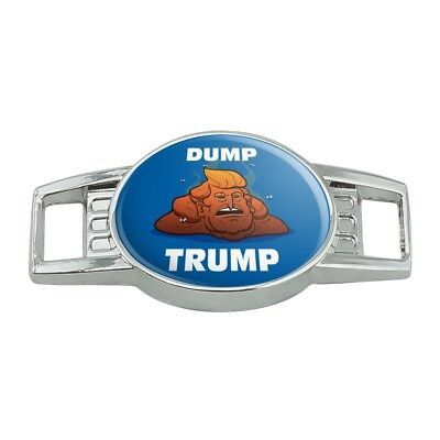 Dump Donald Trump with Poop Shoe Shoelace Tag Runner Gym Charm