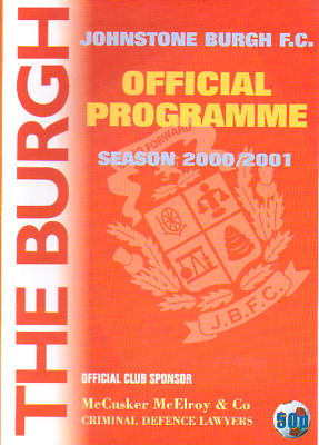 Johnstone Burgh V Whitburn Juniors Scottish Junior Cup 2000/1 Season.
