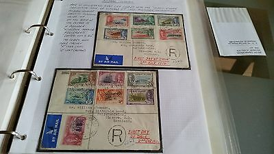 Cayman Islands 1950 Sg 135-147 Definitives First Day Cover