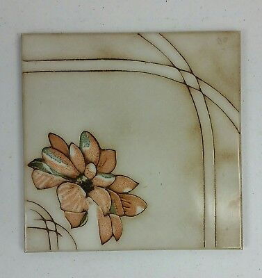 """Lot 20 Vintage Italian Ceramic Pottery Deco Floral Tiles 8"""" X 8"""" Made Italy Rare"""