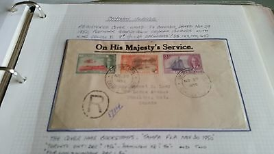 Cayman Islands 1950 Sg 143-145 Ohms Cover