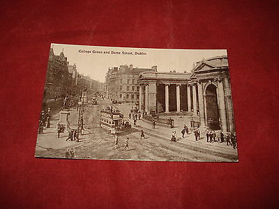 VINTAGE IRELAND: DUBLIN College Green and Dame Street b&w