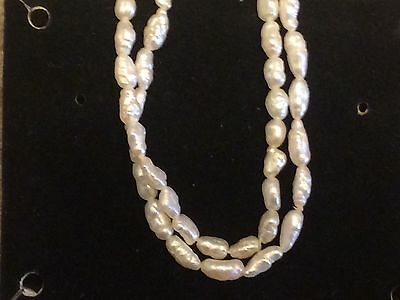 """Freshwater Pearl Necklace 16"""" Stamped 4-20 - Needs Repair"""