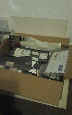 Stamp Collection in Box