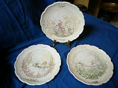 Set Of 3 Royal Doulton The Wind In The Willows Plates