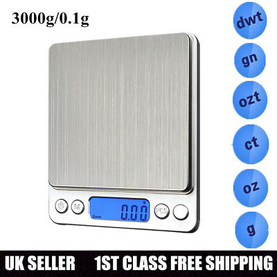 500g /0.01g Digital LCD Pocket Scale Jewelry Scales Kitchen Weight Libra Tools