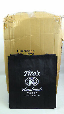 (Wholesale Case of 100) Tito's Vodka Shopping Bags - Made of Recycled Material