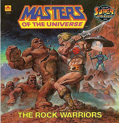 MASTERS OF THE UNIVERSE Golden Book - THE ROCK WARRIORS
