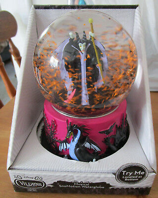 Disney' Villain Maleficent Musical Snomotion Globe