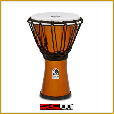 Toca 7″ Freestyle Colorsound Djembe Hand Drum – Metallic Gold Finish