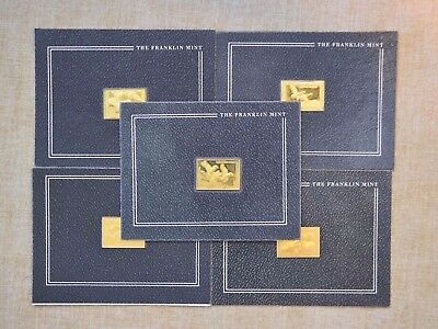 Lot Of 5 Duck Stamps Of America Ingots - The Franklin Mint - Goldplated Sterling