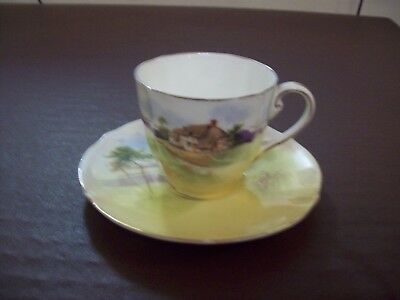 """China cup, saucer + small dish Royal Doulton series ware """" English Cottages """""""