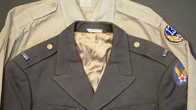 Ww2 Army Air Corps Named Officers Uniform Set -13Th Aaf