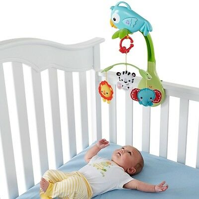 Fisher Price Rainforest Friends 3 in 1 Musical Mobile NEW