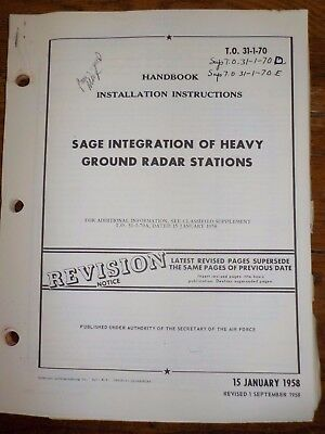 Technical Orders Sage Integration of Heavy Ground Radar Stations Army Air Force