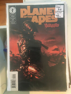PLANET OF THE APES THE HUMAN WAR #2 NM 1st Print DYNAMIC FORCES GOLD VARIANT coa