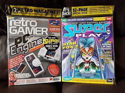 Retro Gamer Magazine 172 & Super Play 48 Latest Issue Nintendo SNES Mini Classic