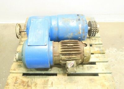 Reeves 332 Motodrive Variable Speed Drive 184tc 31.4:1 5hp 460v-ac