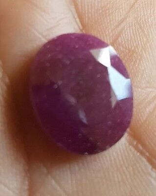 untreated ruby gemstone 10.15 ctw