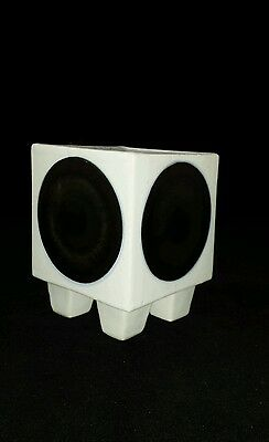Troika Footed Cube Vase. Early 1960s. Trident stamped.