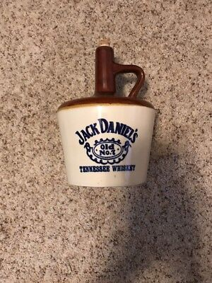 Jack Daniel's Old No. 7 Tennessee Whiskey Shoulder Jug USA Stoneware Vintage 10""
