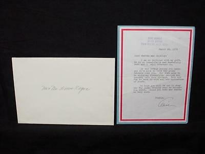NobleSpirit NO RESERVE {3970} 1978 Alice Marble Signed Letter To Friends