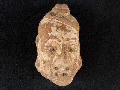 "NobleSpirit NO RESERVE {3970} Fabulous 2 3/4"" Pre Columbian Stone Carved Head"