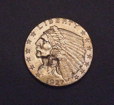 ✰ 1927 $2.50 Gold Indian Head Quarter Eagle Coin ✰