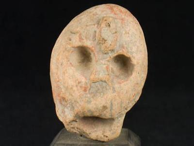 "NobleSpirit NO RESERVE {3970} Excellent 2"" Pre Columbian Stone Statue Head"