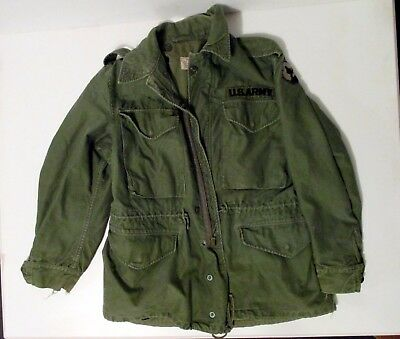 1965 Vietnam Dated M65 Army Field Jacket Short Small M 65 Coat 94th Infantry Pat