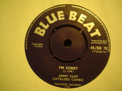 Uk Blue Beat Bb 78-Jimmy Cliff-Im Sorry/the Blue Beats-Roarin-Vg++